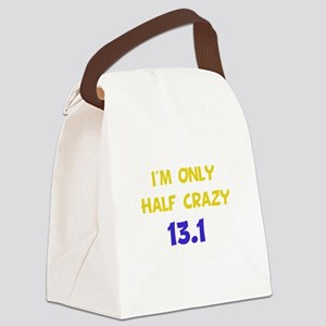 Half Crazy Yellow Canvas Lunch Bag