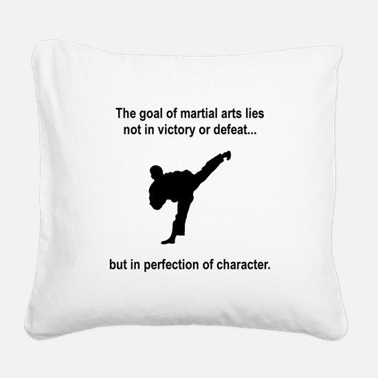 Martial Arts Character Black.png Square Canvas Pil