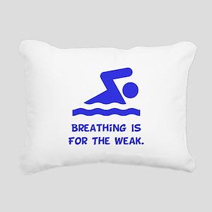 Breathing Weak Blue Rectangular Canvas Pillow