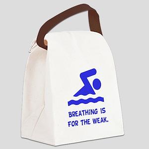Breathing Weak Blue Canvas Lunch Bag