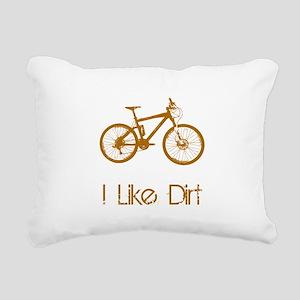 Mountain Bike Dirt Brown Rectangular Canvas Pi