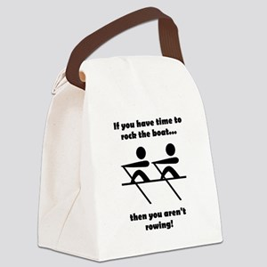 Rock The Boat Black Canvas Lunch Bag
