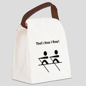 How I Row Black Canvas Lunch Bag