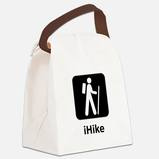 iHike Black.png Canvas Lunch Bag