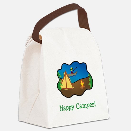 Happy Camper Green.png Canvas Lunch Bag