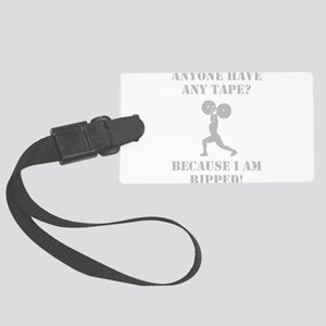 Weightlifting Ripped Grey Large Luggage Tag