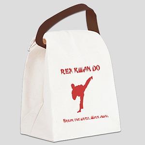 Rex Break Wrist Red Canvas Lunch Bag