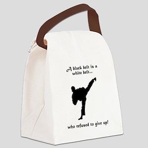 Black Belt Refusal Black Canvas Lunch Bag
