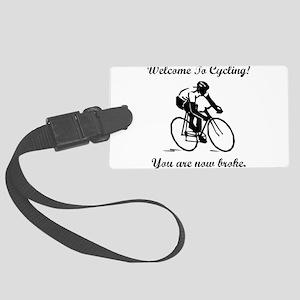 Cycling Broke Black Large Luggage Tag