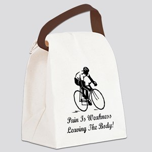 Pain Is Weakness Black Canvas Lunch Bag