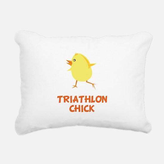 Triathlon Chick Orange.png Rectangular Canvas Pill