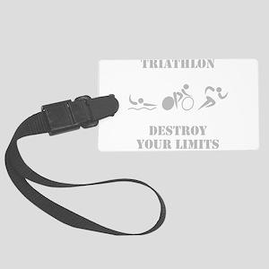 Triathlon Destroy Grey Large Luggage Tag