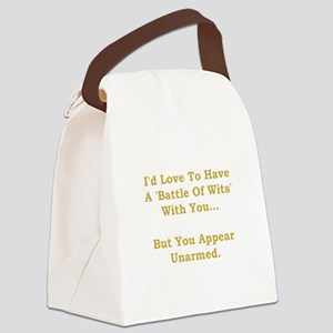 Battle Of Wits Gold Canvas Lunch Bag