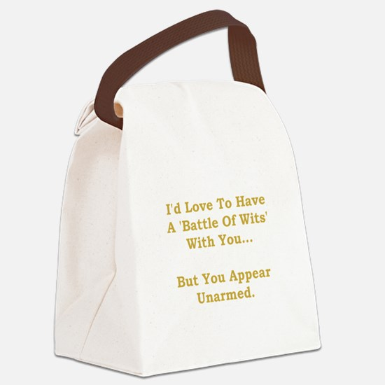 Battle Of Wits Gold.png Canvas Lunch Bag