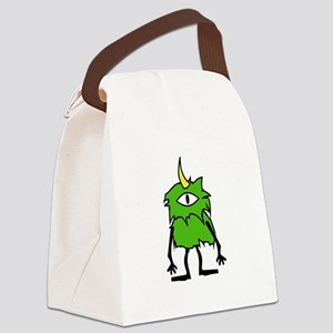 One Eye Monster Light Only Canvas Lunch Bag