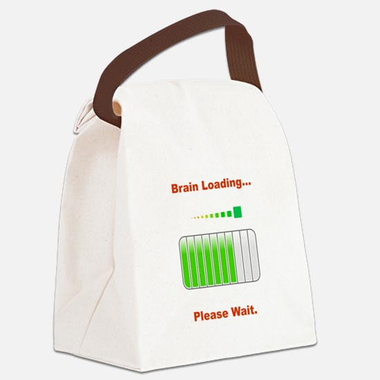 Brain Loading Red.png Canvas Lunch Bag