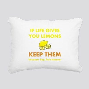 Keep Lemons Yellow Rectangular Canvas Pillow