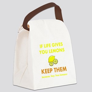 Keep Lemons Yellow Canvas Lunch Bag