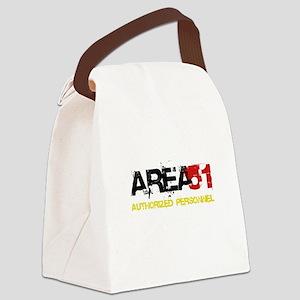 Area 51 Black Canvas Lunch Bag