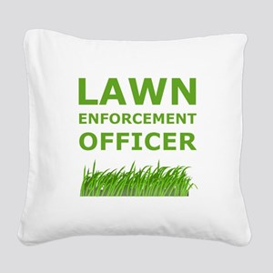 Lawn Offier Green Square Canvas Pillow