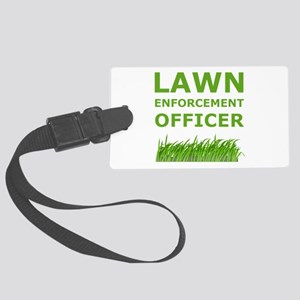 Lawn Offier Green Large Luggage Tag