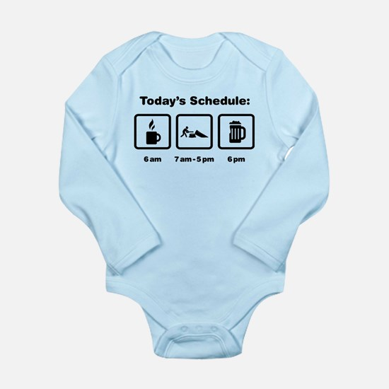 Logging Long Sleeve Infant Bodysuit
