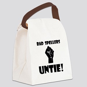 Bad Spellers Black Canvas Lunch Bag