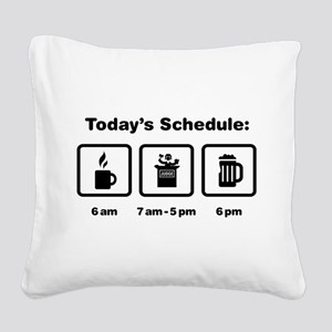 Judge Square Canvas Pillow