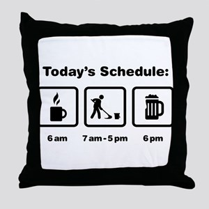 Janitor Throw Pillow