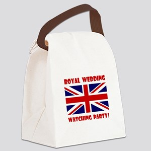 Royal Watching Party Red Canvas Lunch Bag