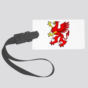 Griffin Red Large Luggage Tag