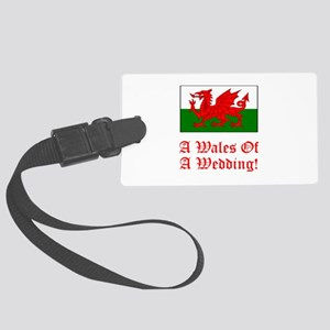 Wales Wedding Red Large Luggage Tag