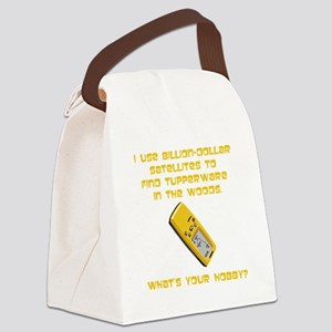 GeoCache Tupperware Yellow Canvas Lunch Bag