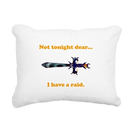 Tonight Raid orange.png Rectangular Canvas Pillow