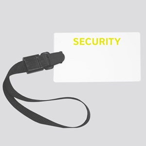 Security Yellow Large Luggage Tag