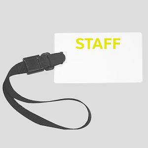 Staff Yellow Large Luggage Tag