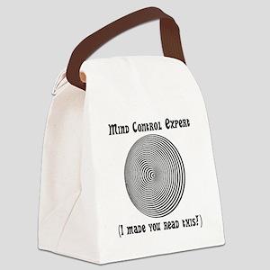 Mind Control Black Canvas Lunch Bag