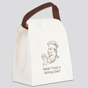 Skinny Chef Brown Canvas Lunch Bag