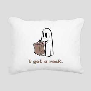 I Got A Rock Brown Rectangular Canvas Pillow