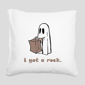 I Got A Rock Brown Square Canvas Pillow