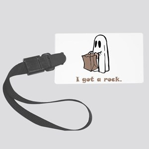 I Got A Rock Brown Large Luggage Tag