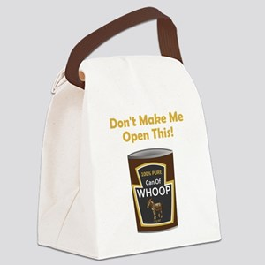 Can Of Whoop Donkey Gold Canvas Lunch Bag
