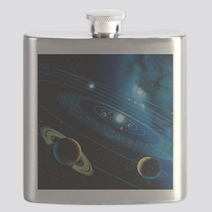 Artwork of the solar system - Flask