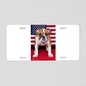All American Bulldog Aluminum License Plate