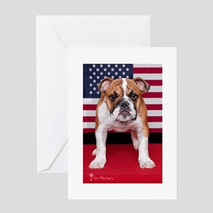 All American Bulldog Greeting Card