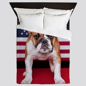 All American Bulldog Queen Duvet