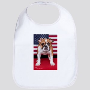 All American Bulldog Bib
