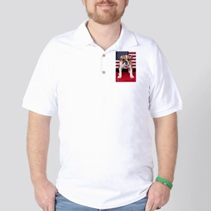 All American Bulldog Golf Shirt