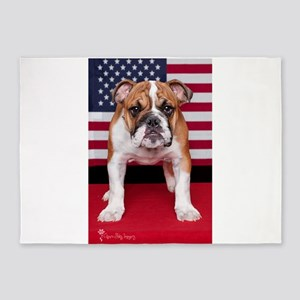 All American Bulldog 5'x7'Area Rug