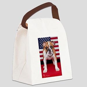 All American Bulldog Canvas Lunch Bag